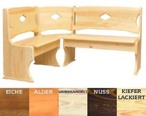 eckbank kiefer massivholz verschiedenen farben neu ebay. Black Bedroom Furniture Sets. Home Design Ideas