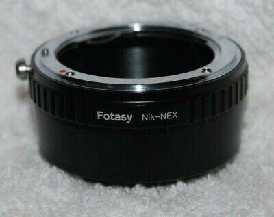 NIKON MOUNT FOTASY adapter Nik-Nex for mounting Nikon lenses to SONY cameras