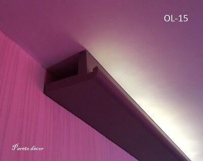 1,2 Meter LED Licht Bebauung Stuckleiste für indirekte Beleuchtung XPS OL-15 Spo