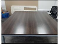 Walnut finish office/meeting/conference/boardroom table seats up to 12