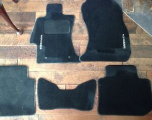 Black Subaru Impreza car mats