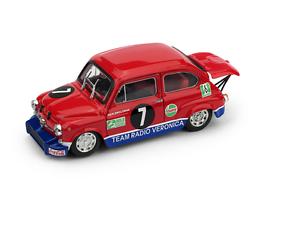 Fiat-Abarth-1000-Zandvoort-1970-R-Zwolsman-1-43-R558-Brumm-Made-Italy