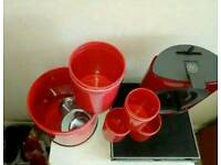 Nescafe dolce and kitchen canisters