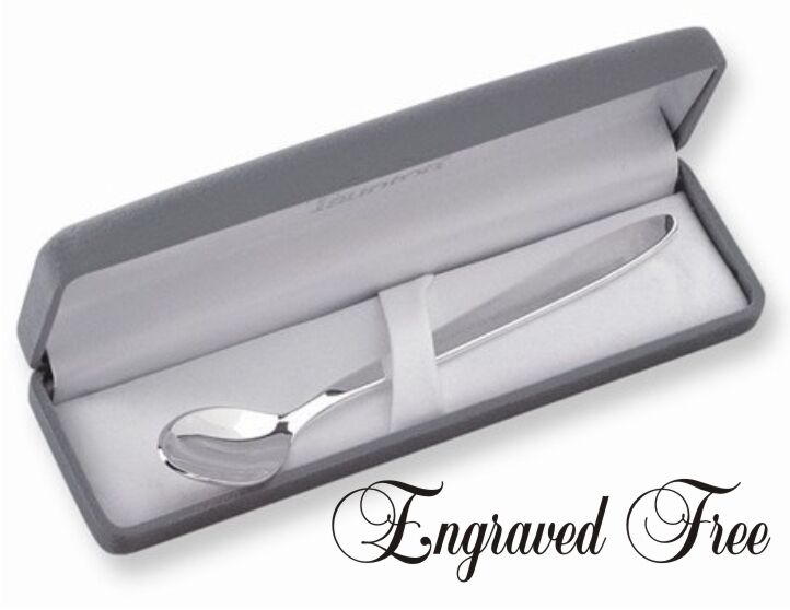 Baby Spoon Personalized Silverplated Baby Gift  - Engraved & Shipped Free