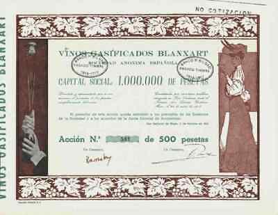 Vinos Gasificados Blanxart Sociedad Anonima Espanola 1916 San Sadurni de Noya