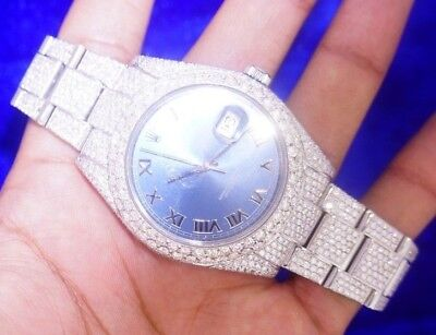 Rolex Datejust 2 41mm Oyster Steel Watch With 2300 Diamonds Honeycomb Setting