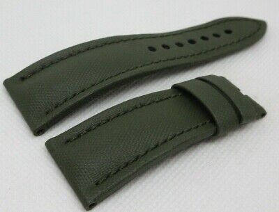 Blancpain Fifty Fathoms Green Sailcloth Leather Strap 23mm OEM Genuine
