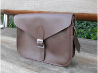 Oxford Satchel - Real Leather - Brown - Vintage Shoulder Handbag Handmade in Cambridge UK