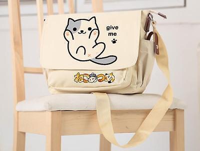 Japanese Game Neko Atsume Cat Backyard Anime Cosplay Bag Shoulder Bag  Schoolbag 285016d9d369b