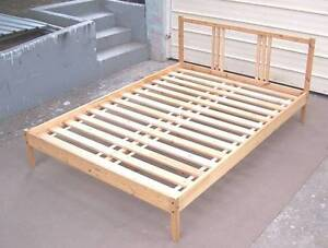 Solid Pine Double Bed Frame Inala Brisbane South West Preview