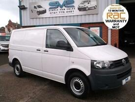 2012 12 VOLKSWAGEN TRANSPORTER 2.0 T28 TDI BLUEMOTION TECHNOLOGY AIR CON SAT NAV