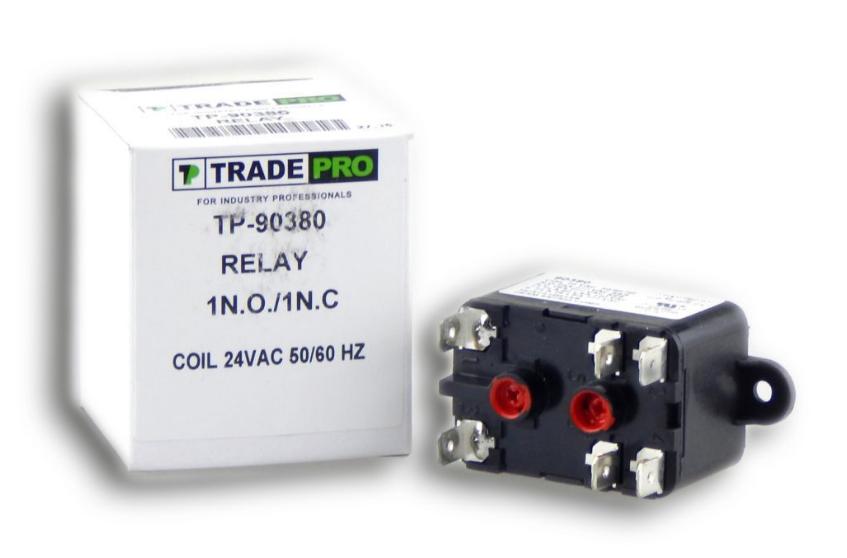 90380 Relay 24 VAC Coil 50/60 HZ A/C Central Air-Conditionin