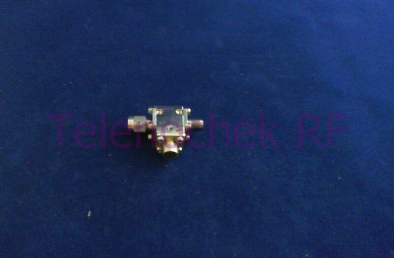 RF microwave single junction isolator 9960 MHz - 17.2 GHz /  10 Watt / data