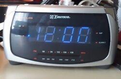 Emerson Dual Alarm Radio/Alarm Clock CK5052 Grey Silver Large Display