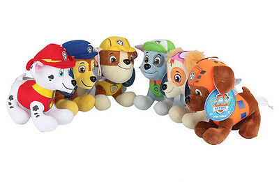 PAW PATROL COMPLETE SET of Cute Dogs plush Doll Dog Toy Chase Zuma 20CM 8""