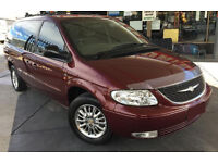 2001 51 CHRYSLER GRAND VOYAGER 2.5 DIESEL 109K MILES ONLY - 5 SPEED MANUAL MAROON RED MPV 7 SEATER