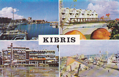 CYPRUS POSTCARD FAMAGUSTA SALAMIS BAY PORT EARLY TURKISH EDITION C 1975