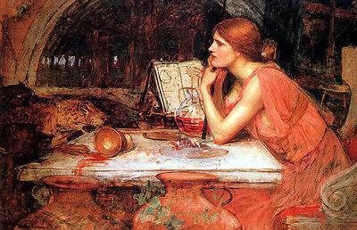 The Sorceress    by John William Waterhouse  Paper Print Repro