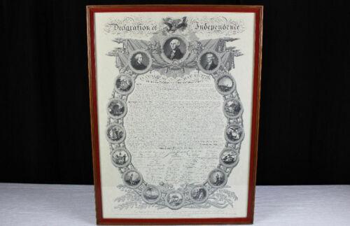 William Woodruff /Binns Declaration of Independence Broadside replica 1968 Clark