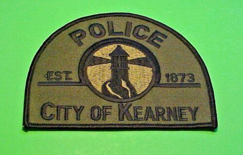 """KEARNEY  NEBRASKA  NE  ( LIGHTHOUSE )  SUBDUED  3 3/4 x 4 3/4""""  POLICE PATCH"""