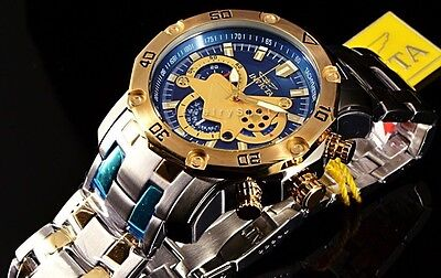 Invicta Pro Diver Scuba 3.0 Blue/Yello 50MM Chronograph 2-Tone SS Bracelet Watch