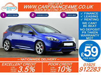 2013 FORD FOCUS 2.0T ST-2 GOOD / BAD CREDIT CAR FINANCE FROM 59 P/WK