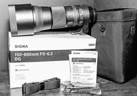 SIGMA 150-600mm lens - LIKE NEW