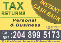 INSTANT CASH BACK ON TAX