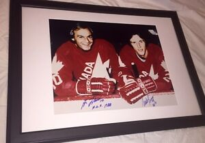 Mike Bossy, Guy Lafleur Autographed Team Canada 16x20 Framed