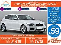 2013 BMW 116 1.6 M SPORT GOOD / BAD CREDIT CAR FINANCE FROM 59 P/WK