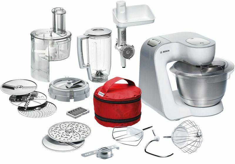 Bosch MUM54270 DE Küchenmaschine Styline Weiss-Silber mit Fleischwolf uvm NEU
