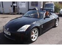 2005 (55) Nissan 350z 3.5 v6 Roadster Convertible Black