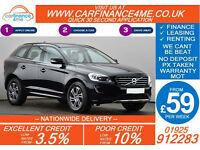 2013 VOLVO XC60 2.4TD SE GOOD / BAD CREDIT CAR FINANCE FROM 59 P/WK