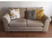 NEXT cream fabric sofa