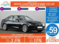 2013 BMW 320D 2.0 LUXURY GOOD / BAD CREDIT CAR FINANCE FROM 59 P/WK