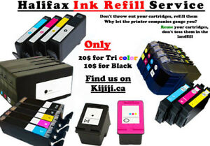 Ink refill service - HP, CANON, EPSON, BROTHER