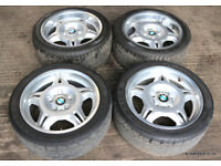 BMW E36 M3 Evo Genuine Staggered Motorsport Alloy Wheels & Tyres Style 24 328i Sport 318is