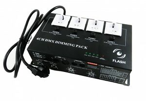 Flash MultiDim 4-Kanal Dimmer DMX Schuko Dimmerpack 3680 Watt Analog NEU