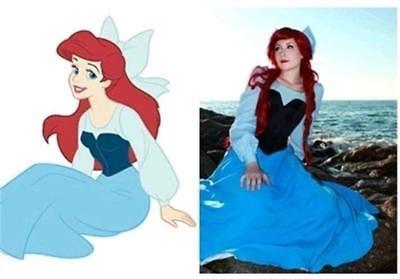 Ariel Cosplay Dress (The Little Mermaid Ariel Princess Dress Cosplay Women Costume Blue Outfits)