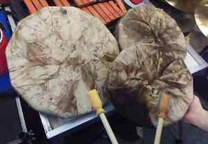 Traditional Cedar and Deer Hide Hand Drums - STORE CLOSING SALE