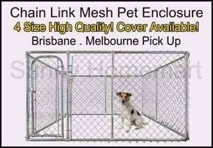 NEW Pet Dog Enclosure Kennel Chain Link Mesh Fence Crate Playpen Canberra Region Preview