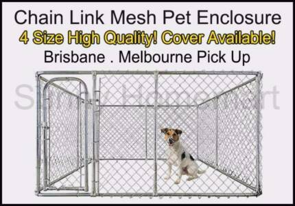 NEW Pet Dog Enclosure Kennel Chain Link Mesh Fence Crate Playpen