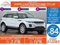 2012 RANGE ROVER EVOQUE 2.2 D4 PURE GOOD / BAD CREDIT CAR FINANCE FROM 84 P/WK