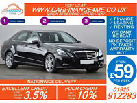2011 MERCEDES E220 CDI SPORT GOOD / BAD CREDIT CAR FINANCE FROM 59 P/WK