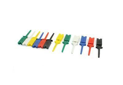 10pcs Test Clip Mini Grabber Smd Ic Hook Probe Jumper Practical Rs