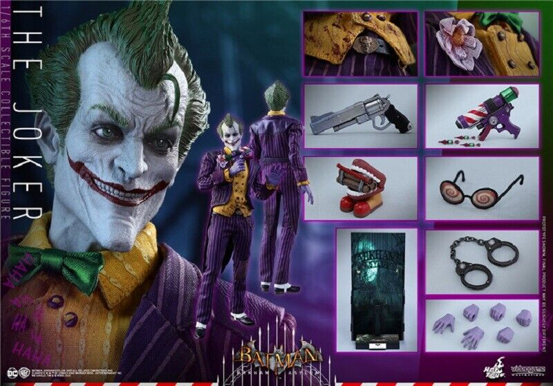 HOT TOYS BATMAN ARKHAM ASYLUM VGM27 JOKER Scarpe Loose SCALA 1//6th