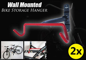 2x Large Premium Bike Bicycle Hanger Hook Wall Mounted Garage Storage Rack Mount