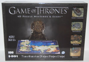 BRAND NEW Game of Thrones 4D Puzzle of Westeros & Essos