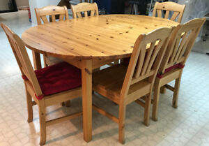 Dining table with 6 chairs from Ikea for sale
