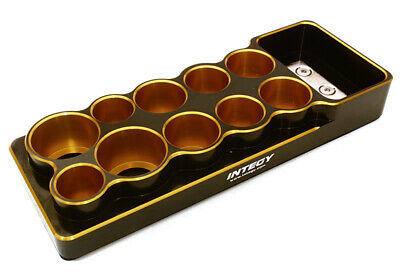 C27122GOLD Universal 10 Slots Tool Base 14, 16, 18 & 22mm w/ Magnetic Tray Magnetic Base Slotted